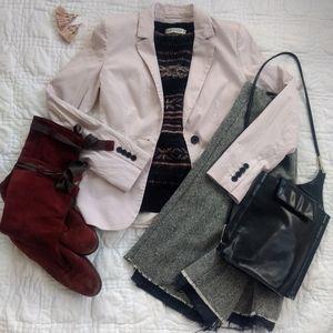 H&M light blush pink blazer